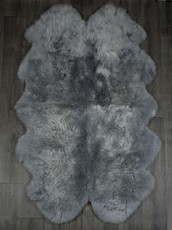 Silver Grey Quad Sheepskin Rug