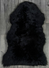 Black Single Sheepskin Rug