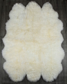 White Sexto Sheepskin Rug