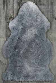 Light Blue Grey Single Sheepskin Rug