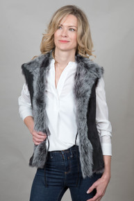 Toscana Sheepskin Gilet in Black (