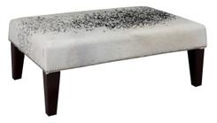 3ft x 2ft Cowhide Footstool / Ottoman FST877
