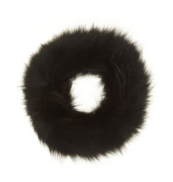 Black Fox Fur Headband FFH8014A-01.