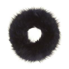 Blue Black Fox Fur Headband