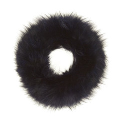 Blue  Fox Fur Headband FFH8014A-.07
