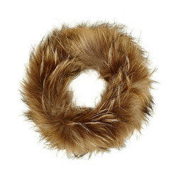 Mocha Fox Fur Headband FFH8014A-09.
