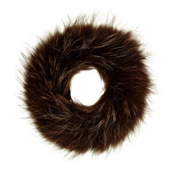Dark Brown Fox Fur Headband FFH8014A-D04.