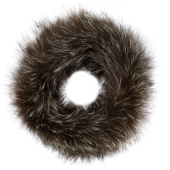 Grey Fox Fur Headband FFH8014A-03.