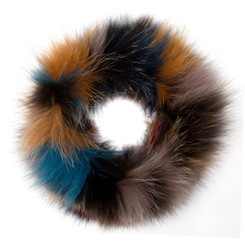 Autumnal Coloured Fox Fur Headband FFH8014A-00.