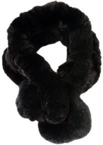 Black Bellringer Fur Scarf