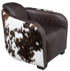 Cowhide Club Chair