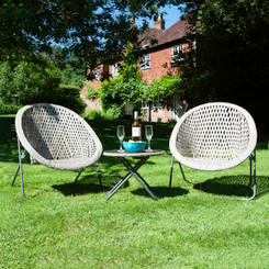 Foldable Rattan Garden Furniture Set In Stone