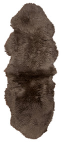 Brown Taupe Double Sheepskin Rug