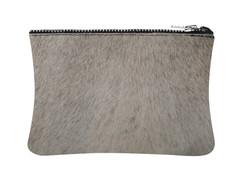White & Grey Cowhide purse