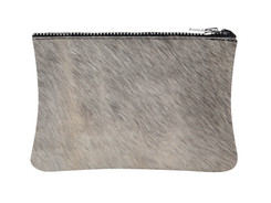 Grey & White Cowhide purse