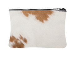Brown & White Cowhide Purse
