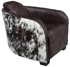 Cowhide Club Chair