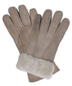 Stone sheepskin gloves