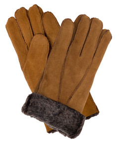 Womens Sheepskin Gloves in Tan