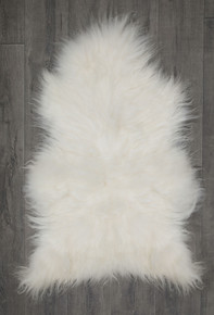 Icelandic White Single Sheepskin Rug