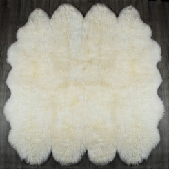 White Octo Large Sheepskin Rug