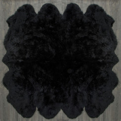 Black Octo Sheepskin Rug