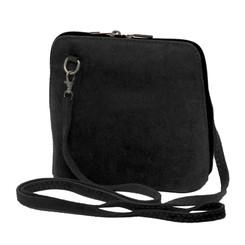 Suede Sholder Bag in Black