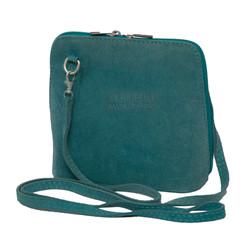 Suede Sholder Bag in Aqua