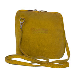 Suede Sholder Bag in Lemon
