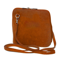 Suede Sholder Bag in Burnt Orange