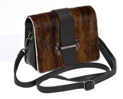 Cowhide Sholder Bag in Brown