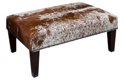 Cowhide Footstool / Ottoman