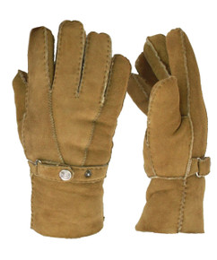 Mens Sheepskin Gloves in Tan