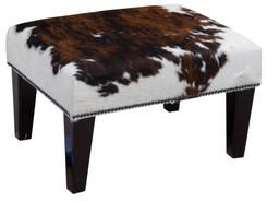 2ft x 1.5ft Cowhide Footstool / Ottoman FST766