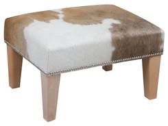 2ft x 1.5ft Cowhide Footstool / Ottoman FST769