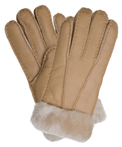 Camel Sheepskin gloves