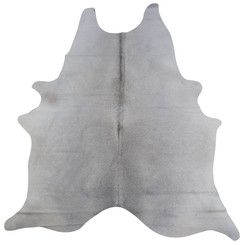 pale grey cowhide rug
