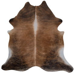 brown brindle cowhide rug