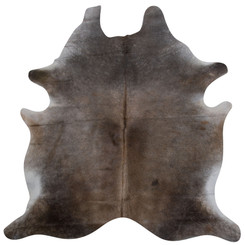 dark brown cowhide rug