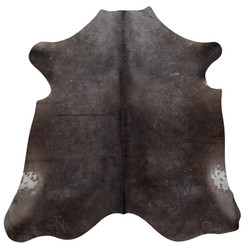 dark grey cowhide rug