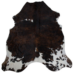 dark brown brindle cowhide rug