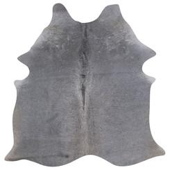 silver grey cowhide rug