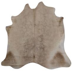 camel cowhide rug