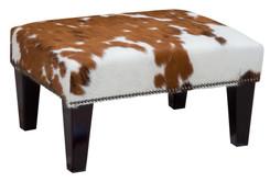 2ft x 1.5ft Cowhide Footstool / Ottoman FST008-21