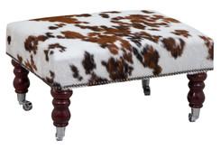 2ft x 1.5ft Cowhide Footstool / Ottoman FST012-21