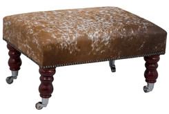 2ft x 1.5ft Cowhide Footstool / Ottoman FST013-21