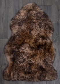 Chocolate Tip Single Sheepskin Rug