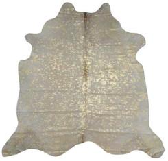 Gold Metallic Cowhide Rug