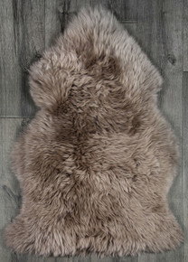 Taupe Single Sheepskin Rug