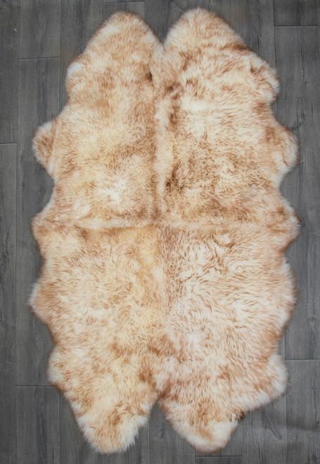 Cappuccino Quad Sheepskin Rug (195 x 115 cm)